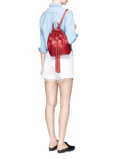 Rebecca Minkoff 'Isobel' small drawstring tassel leather backpack