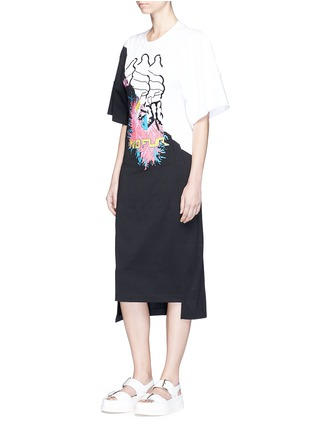 Figure View - Click To Enlarge - Stella McCartney - 'Camellia' mixed slogan print cotton dress