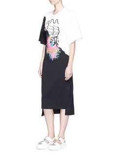 Stella McCartney'Camellia' mixed slogan print cotton dress