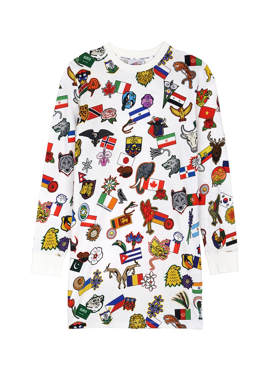 Global Varsity long sleeve T-shirt – Around The World by Opening Ceremony