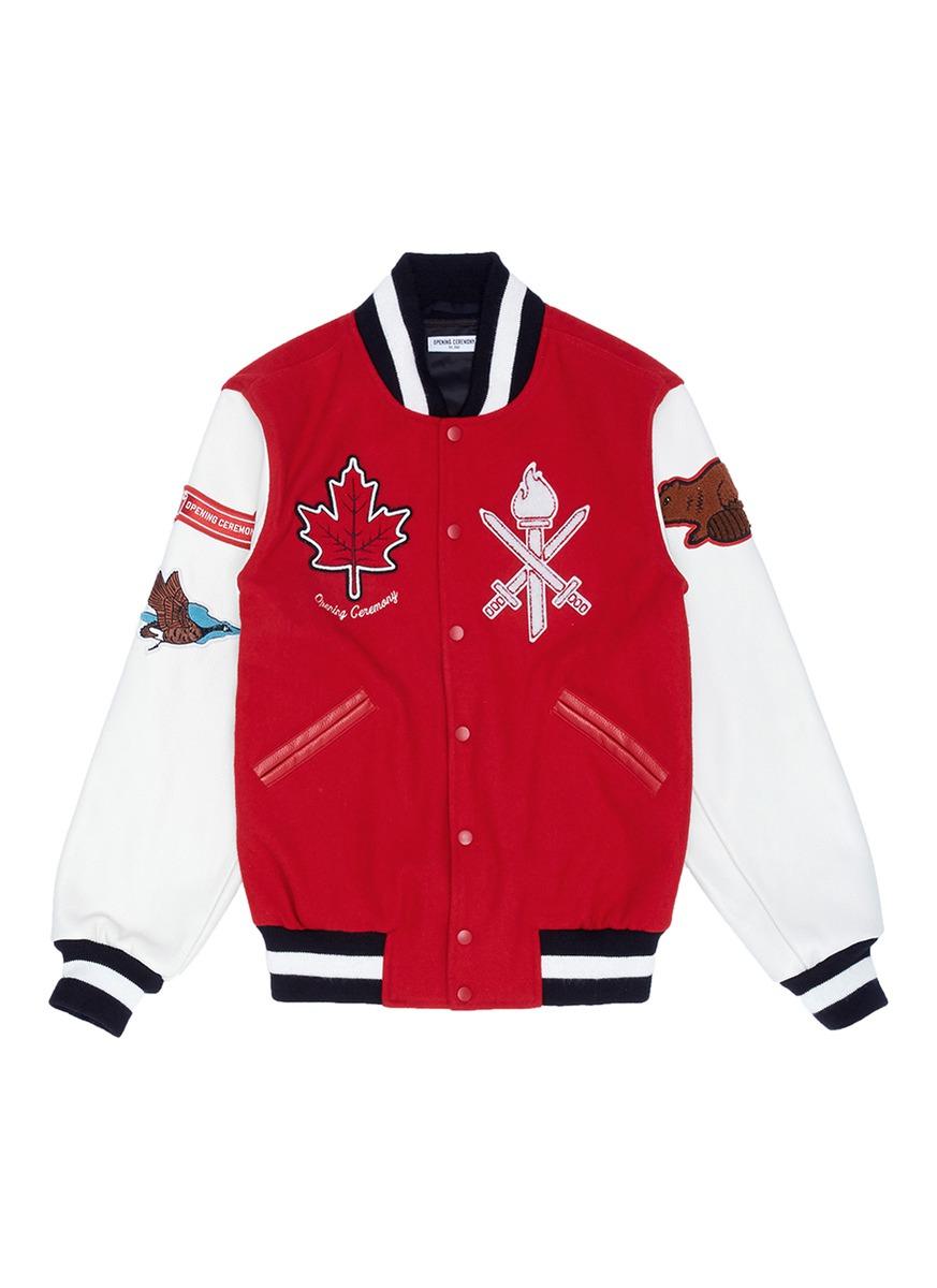 Global varsity jacket – Canada by Opening Ceremony