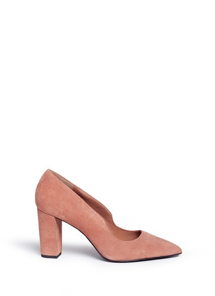 Main View - Click To Enlarge - Opening Ceremony - 'Getta' suede chunky heel pumps