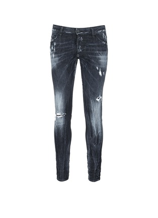 Main View - Click To Enlarge - Dsquared2 - 'Clement' shot wash slim fit jeans