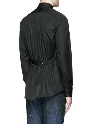 Back View - Click To Enlarge - Dsquared2 - Strap collar cotton shirt