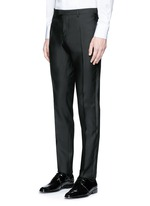 'Beverly Hills' satin trim wool-silk tuxedo suit