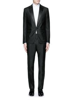 Dsquared2'Beverly Hills' satin trim wool-silk tuxedo suit