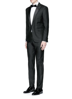 Dsquared2 'Beverly Hills' satin trim wool-silk tuxedo suit