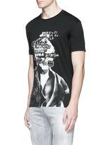 Punk skull print T-shirt