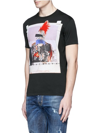 Front View - Click To Enlarge - Dsquared2 - Punk print T-shirt