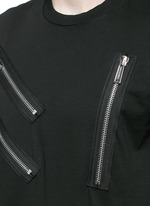 Multi zip T-shirt