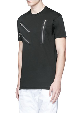 Dsquared2-Multi zip T-shirt