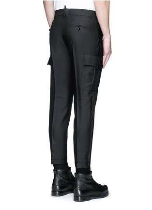 Back View - Click To Enlarge - Dsquared2 - 'Admiral' wool-silk evening pants