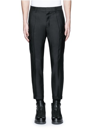 Main View - Click To Enlarge - Dsquared2 - 'Admiral' wool-silk evening pants