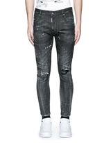 'Clement' distressed slim fit jeans