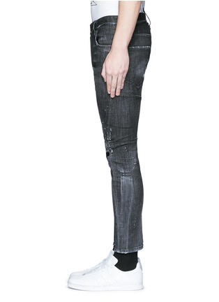 Detail View - Click To Enlarge - Dsquared2 - 'Clement' distressed slim fit jeans