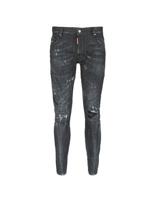 Main View - Click To Enlarge - Dsquared2 - 'Clement' distressed slim fit jeans