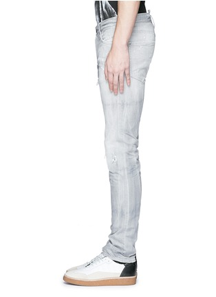 Detail View - Click To Enlarge - Dsquared2 - Slim fit rip and repair jeans