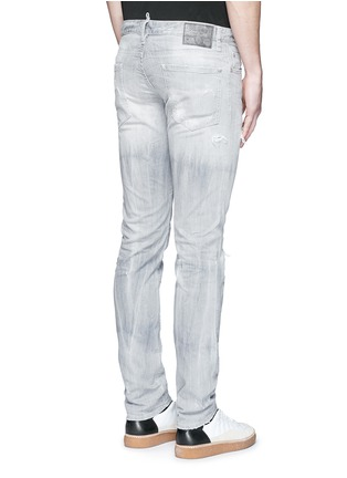 Back View - Click To Enlarge - Dsquared2 - Slim fit rip and repair jeans