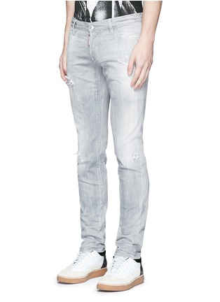 Front View - Click To Enlarge - Dsquared2 - Slim fit rip and repair jeans
