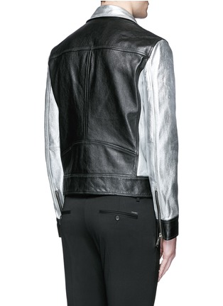 Back View - Click To Enlarge - Dsquared2 - Metallic leather jacket