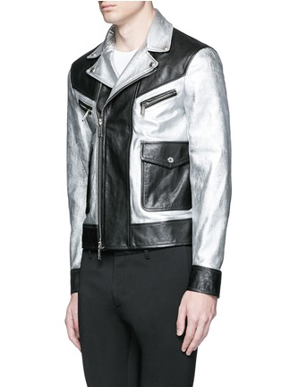 Front View - Click To Enlarge - Dsquared2 - Metallic leather jacket
