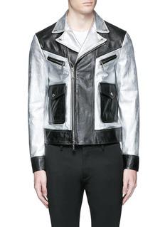 Dsquared2Metallic leather jacket