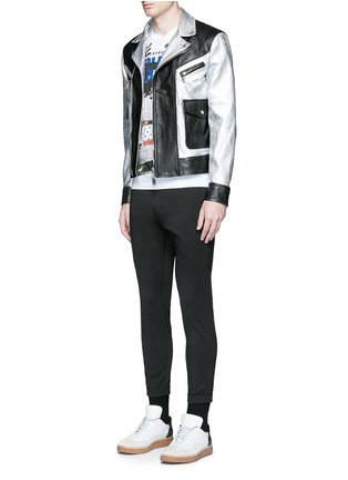 Figure View - Click To Enlarge - Dsquared2 - Metallic leather jacket