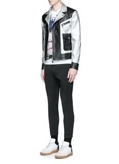 Dsquared2 Metallic leather jacket