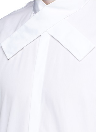 Detail View - Click To Enlarge - Dsquared2 - Kimono collar cotton shirt