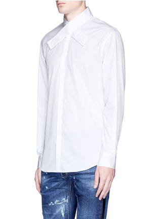 Front View - Click To Enlarge - Dsquared2 - Kimono collar cotton shirt