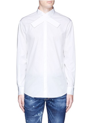 Main View - Click To Enlarge - Dsquared2 - Kimono collar cotton shirt