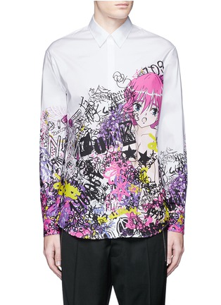 Main View - Click To Enlarge - Dsquared2 - 'Relaxed Dan' manga print shirt