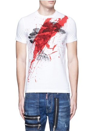 Main View - Click To Enlarge - Dsquared2 - Textured print T-shirt