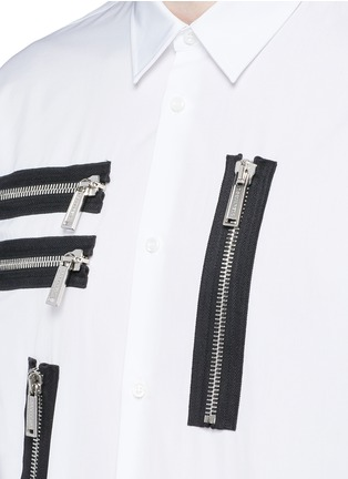 Detail View - Click To Enlarge - Dsquared2 - Multi zip cotton shirt