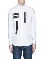 Multi zip cotton shirt