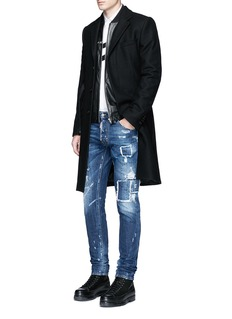 Dsquared2 'Cool Guy' rip and repair jeans