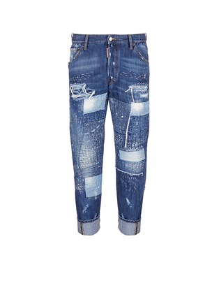 Main View - Click To Enlarge - Dsquared2 - Boro patchwork folded cuff jeans