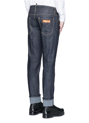 Back View - Click To Enlarge - Dsquared2 - 'Slim' rolled cuff jeans