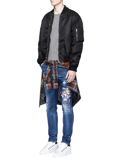 Dsquared2 Samurai print distressed jeans