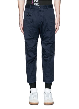 Main View - Click To Enlarge - Dsquared2 - 'Tizzy' cropped cotton chinos