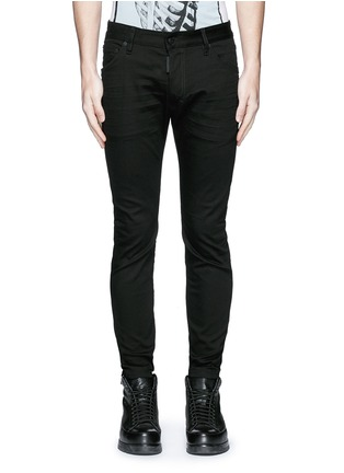 Detail View - Click To Enlarge - Dsquared2 - 'Twiggy Boy' zip cuff slim fit jeans