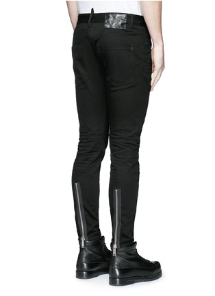 Back View - Click To Enlarge - Dsquared2 - 'Twiggy Boy' zip cuff slim fit jeans