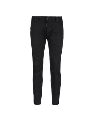Main View - Click To Enlarge - Dsquared2 - 'Twiggy Boy' zip cuff slim fit jeans