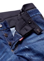 Slim fit contrast waist layered jeans
