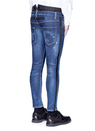 Back View - Click To Enlarge - Dsquared2 - Slim fit contrast waist layered jeans