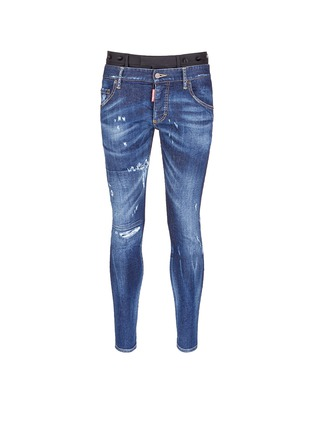 Main View - Click To Enlarge - Dsquared2 - Slim fit contrast waist layered jeans