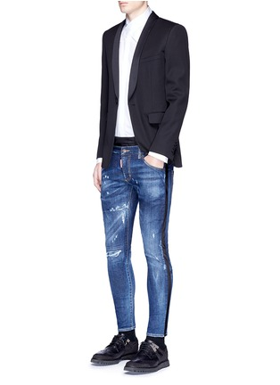 Figure View - Click To Enlarge - Dsquared2 - Slim fit contrast waist layered jeans