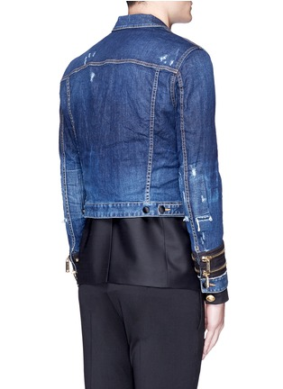 Back View - Click To Enlarge - Dsquared2 - Blazer underlay denim military jacket