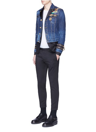 Figure View - Click To Enlarge - Dsquared2 - Blazer underlay denim military jacket