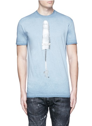 Main View - Click To Enlarge - Dsquared2 - Finger print T-shirt